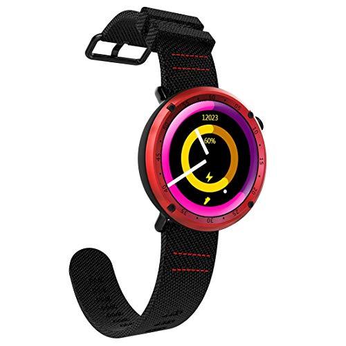 YCYC AYSMG L19 Sports Fitness Tracker Impermeabile da 1,3 Pollici TFT GPS Bluetooth Smart Watch con cardiofrequenzimetro e Bussola e Pressione sanguigna (Grigio) (Color : Grey)