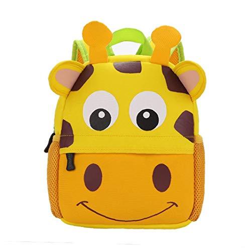 Borse Bambino sveglio zaino asilo Scuola di animale del fumetto del sacchetto 3D For Kids Giraffe