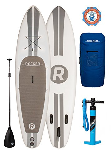 """iRocker Paddle Boards Inflatable 10' 6"""" Thick SUP Package"""