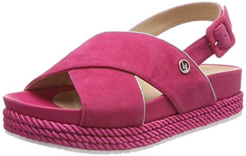 Liu Jo Shoes Patty 02-Sandal Kid Suede Punta Aperta Donna, Rosso (Geranium 81945), 38 EU