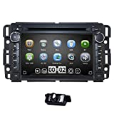 hizpo Car Navigator 7 Inch Double Din Touch Screen in Dash Car DVD Player Stereo FM/AM Radio Receiver Bluetooth Fit for GMC Chevrolet Buick Silverado Sierra Yukon