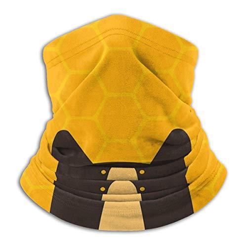 asdew987 Black Bear - Polaina para el cuello con forma de panal, para la cabeza, máscara solar, bufanda mágica, bandana, pasamontañas, diadema para deportes