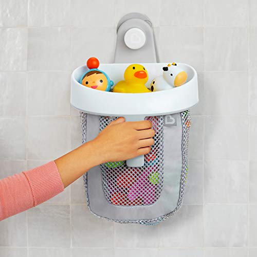 Munchkin Hanging Bath Toy Storage with Quick Drying Mesh, Grey