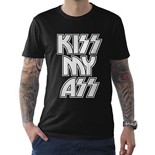 Kiss My Ass Funny T-Shirt, Rock Band tee, Men's