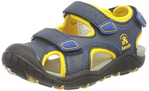 Kamik Unisex-Jungen Seaturtle2 Geschlossene Sandalen, Blau (Navy Citrus Nci), 28 EU