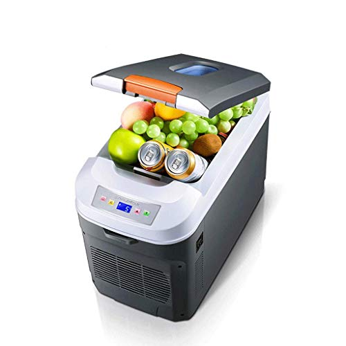 FHISD Refrigerador de Coche Mini refrigerador Refrigerador portátil con Ruedas y Control de Temperatura Digital Refrigerador pequeño móvil