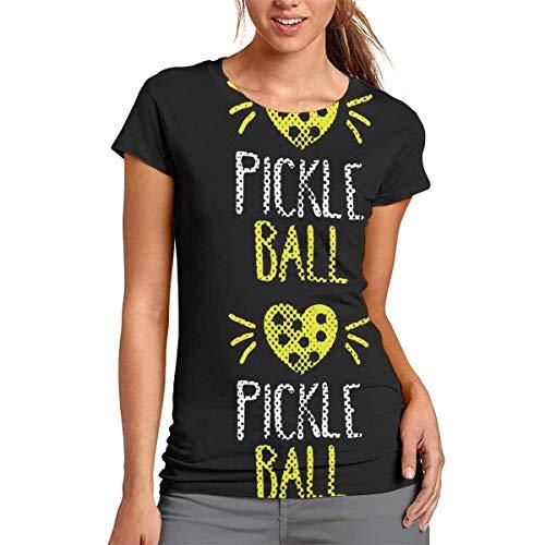 Uosliks I Love Pickleball T-shirt à manches courtes pour femme