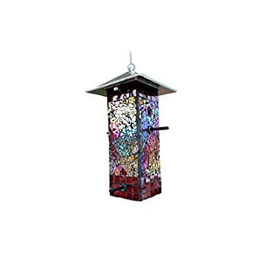 Bluedot Trading Stained Glass Mosaic Bird Feeder