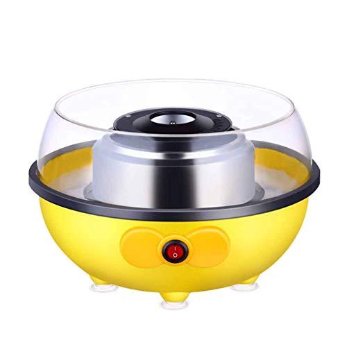 Machine à Barbe à Papa électrique Mini Bonbons à la Maison électrique Machine à Bonbons électriques pour fêtes d'anniversaire ou Cadeau pour Enfants Roscloud@ (Couleur : Le Jaune)