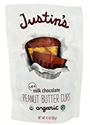 Justin's Nut Butter Mini Peanut Butter Cups, Milk Chocolate, 4.7 Ounce