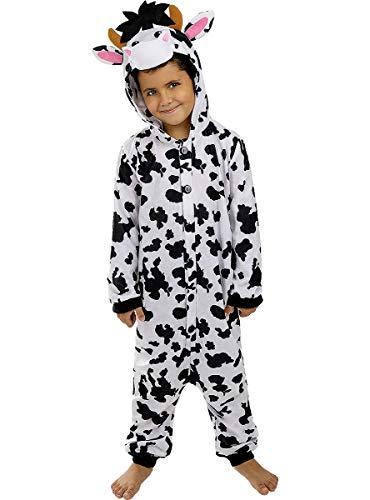 Funidelia | Disfraz de Vaca Onesie para nio y nia Talla 3-4 aos Animales, Granja - Multicolor