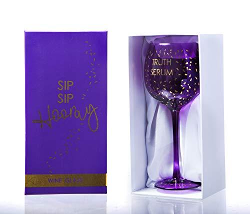 Boxer Gifts Truth Serum Opulent Wine Glass Copa de Vino con suero...