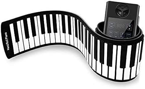 LINGLING-Tastatur Hand Rolle Elektronisches Klavier 61 88 Key Verdickung Professionelle Erwachsene Anf er Praxis Tragbare Falten Weiße Tastatur (Farbe   Schwarz Größe   88 Keys)