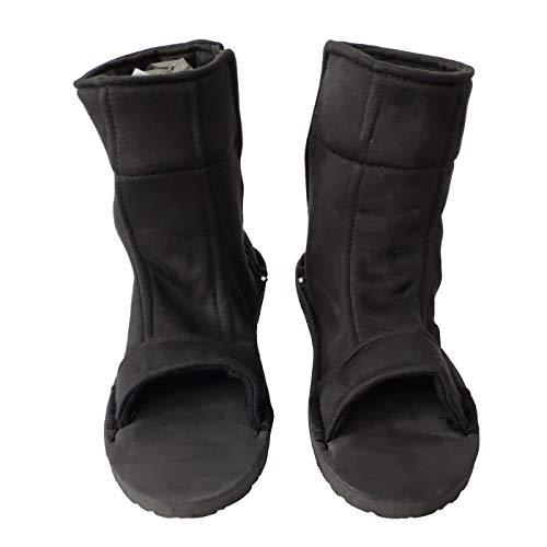 OURCOSPLAY Black Shippuden Ninja Shinobi Shoes [US 5 - US 11] [ Adult/Child ] (46#/29CM/US 11)