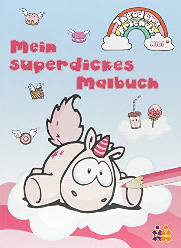Theodor & Friends. Mein superdickes Einhorn Malbuch