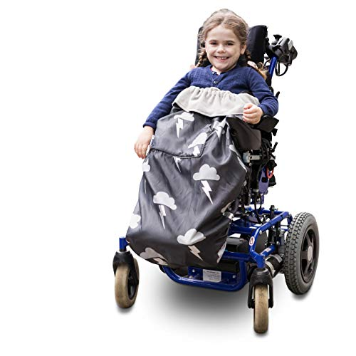 Kinder Fußsack für Rollstühle & Reha-Buggys - einteilig (silberner Blitz)