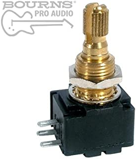 Bourns Model 95 Premium Guitar Potentiometer, 500K Audio, Knurled Split Shaft