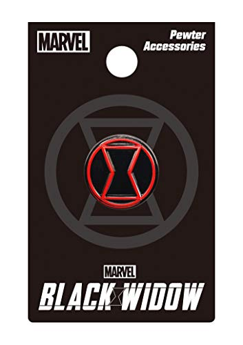 Marvel Black Widow Logo Color Pewter Lapel Pin