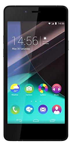 Wiko Highway Pure Smartphone (12,1 cm (4,8 Zoll) Bildschirm, 16 GB Speicher, Android 4.4 KitKat) grau/schwarz