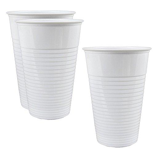 1000 Stk. Qualitäts Trinkbecher weiß 0,2 l. Einwegbecher Ausschankbecher Becher Plastikbecher