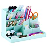 POPRUN Portalápices,organizador de escritorio para lápices, organizador de bolígrafos,cajitas de almacenamiento para oficina, hogar, escuela verde