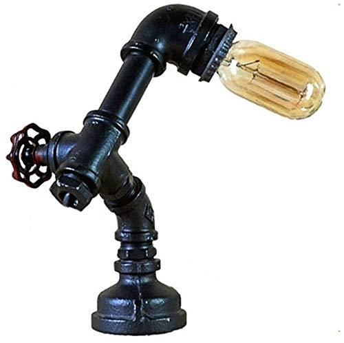Lámpara de Piso Retro Tubo de Agua lámpara de Mesa, con la Puerta Válvula roja, Retro de la Personalidad Creativa Industria Hierro Robot decoración de la Tabla Luz