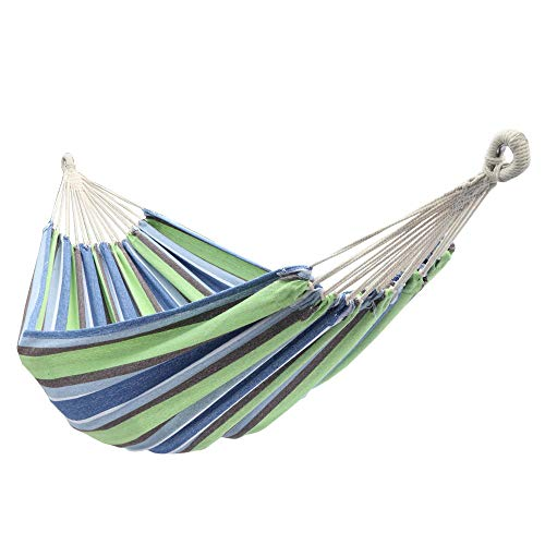 YCCYYYI 200 * 150cm Portable Upgraded Cotton Hammocks Heavy Capacity Up to 350lbs with Tree Straps for Outdoor Camping, Hiking, Backpacking, Patio, Backyard, Beach