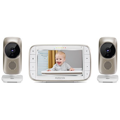 """Motorola MBP845CONNECT-2 5"""" Video Baby Monitor with Wi-Fi Viewing, 2 Cameras, Digital Zoom, Two-Way Audio, and Room Temperature Display"""