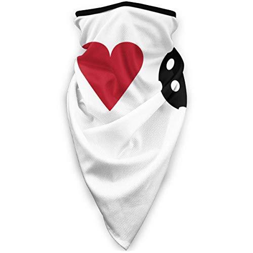 Funda deportiva a prueba de viento, bandana, pasamontañas, bufanda, media cara, I Love Pickleball hombres y mujeres transpirable a prueba de polvo cubierta de tubo cuello cálido polaina multifunción