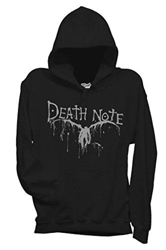MUSH Sweatshirt Kapuzen Death Note - Cartoon by Dress Your Style - Herren-M Schwarz