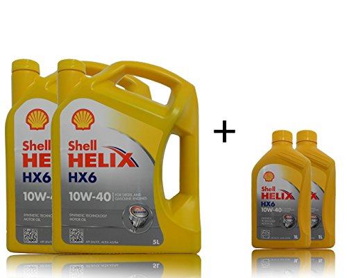 2 x 5 + 2 x 1 liter Shell Helix HX6 10W-40 motorolie