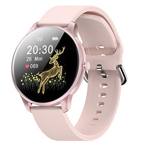 CUBOT W03 Smartwatch, Fitness Tracker für Damen/Herren, 1.28 Zoll Touchscreen, IP68 Wasserdicht Schrittzähler mit Schlafmonitor, für Android/iOS, Rosa