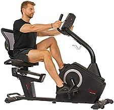 Sunny Health & Fitness Programmable Recumbent Bike - SF-RB4850, Black