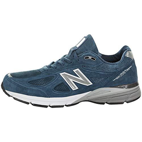 New Balance Men's Made 990 V4 Sneaker, North Sea/White, 11 D US