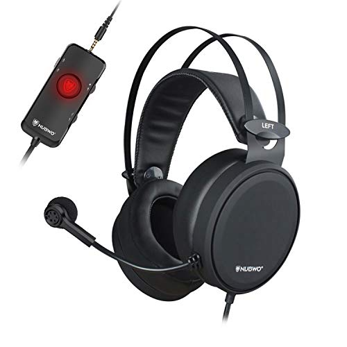 NUBWO Gaming headsets PS4 N7 Stereo Xbox one Headset Wired PC Gaming Headphones with Noise Canceling Mic, Over Ear Gaming Headphones for PC/MAC/PS4/Xbox one