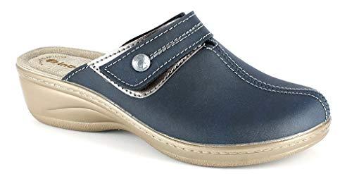 inblu Pantofole Ciabatte Invernali da Donna Art. LY-44 Blu (40)