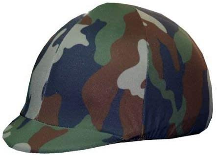 Equestrian Riding New mail order Helmet 4 years warranty Cover Camouflage - Green