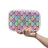 CPYang - Estuche con cremallera para lápices y brochas de maquillaje, diseño de sirena, multicolor