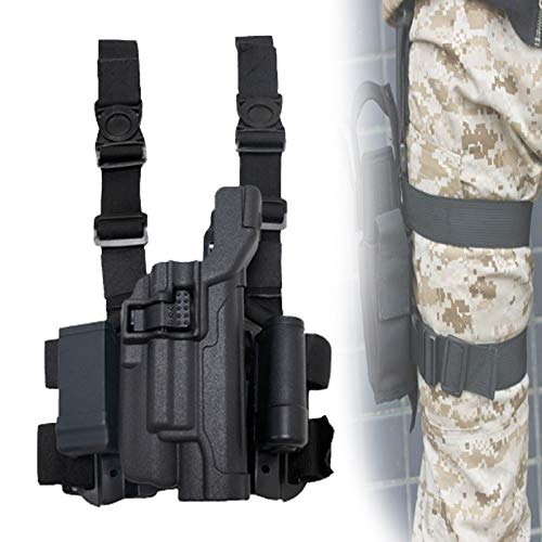 Eortzzpc Tactical Pistola Militar Ajustable Airsoft para Pistola/pistolera de Pierna caída para el Muslo, Funda para Pierna caída, Ideal para operadores o Personas al Aire Libre