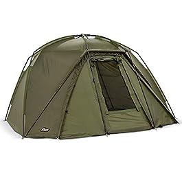 Lucx® Tente de pêche pour 1,5 personnes avec marteau en caoutchouc Brolly Shelter étanche 2,2 m x 2,8 m x 1,35 m