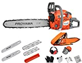 PROYAMA 48CC 16-inch 20-inch 2IN1 Gas Powered Chainsaw with Carrying Case, Orange/Gray NEW ARRIVAL