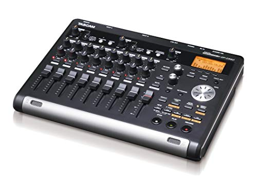TASCAM DP-03SD - Portastudio Registratore Digitale Portatile a 8 Tracce con ingresso USB. Registra su SD o SDHC 32GB, Nero