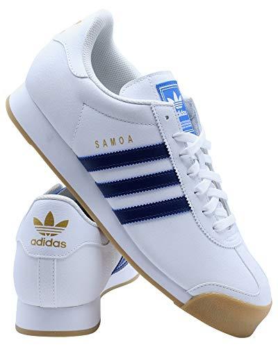 adidas Samoa Tenis para hombre, (Ftwr Blanco/Tech índigo/Gum 3), 41 EU