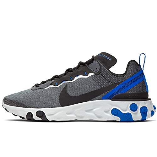 Nike React Element 55 SE - Zapatillas deportivas para hombre, Azul (Negro/Negro-racer Blue-summit Blanco), 47 EU
