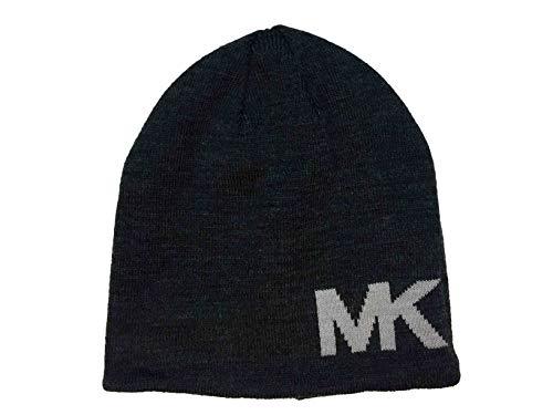 Michael Kors Men`s Reversible MK Logo Knit Beanie (Grey(33412C-015)/Grey, One Size)