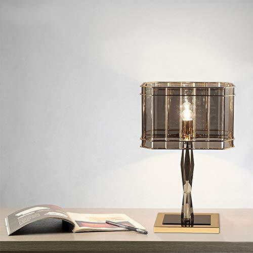Lámparas de mesa DKEE Moda clásica Negro Lámpara de mesa de cristal de lujo Moderno Minimalista Minimalista Personalidad Nórdica Sala de estar Estudio Dormitorio Lectura Ligera Luz Escritorio Artes De