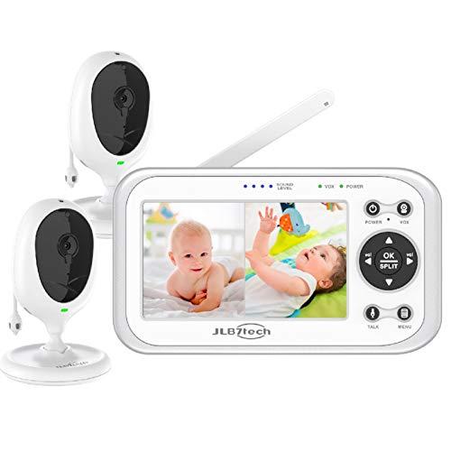 JSLBtech Video Babyphone mit 2 kameras Geteilter Bildschirm 4.3