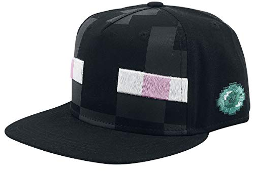Minecraft Snapback Cap Enderman Basecap schwarz