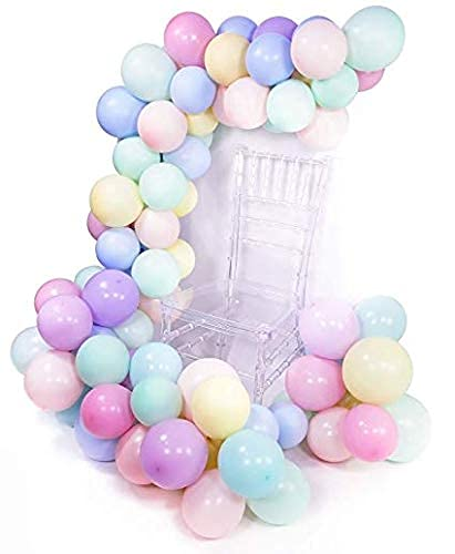 100 Pack 12 Inch 2.8g Thicken Macaron Color Balloons,Pastel Latex Balloon,for Birthday,Baby Shower,Wedding,Engagement,Christmas,Graduation,Picnic or Party Decorations,Garland,Arch Kit