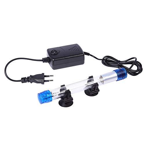 Ailova - 3 tipos esterilizadores UV para estanque de acuario con luz germicida para acuario ultravioleta - Lámpara sumergible - Pescado - Rescivo Coral - Depósito Bactericida - 11 W